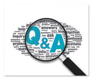 Q & A wordcloud with magnifying glass - investigation - inquiry - info [Image © kbuntu - Fotolia.com]